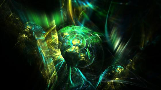 Jungle digital fractal art wallpaper