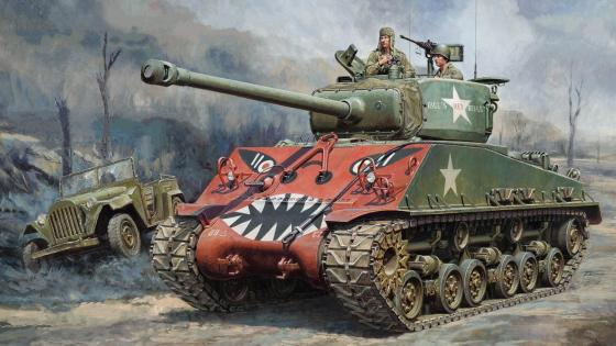 M4 Sherman Tank in the Korean War wallpaper