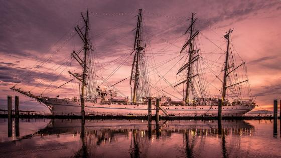 East Indiaman sailing ship wallpaper