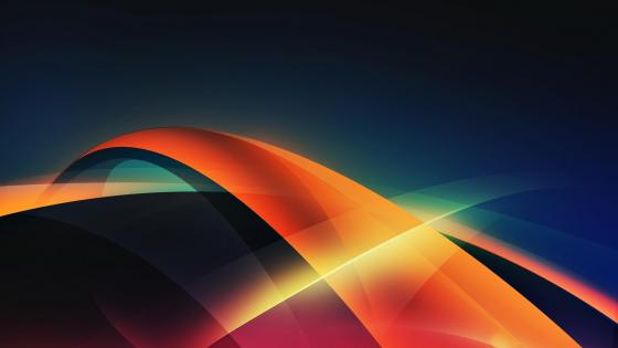 Blue and orange digital abstract art wallpaper