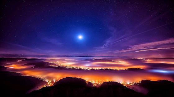 Night Panoramic wallpaper