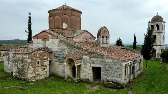 Monastery Church of St Mary at Apollonia, Albania wallpaper