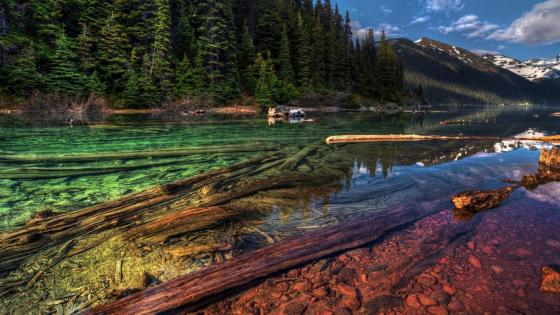 Colorful and crystal clear Garibaldi Lake, British Columbia, Canada wallpaper