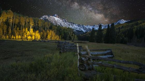 Milky Way over Mount Sneffels near Ridgway, Colorado wallpaper