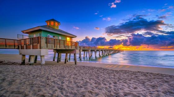 Juno Beach Pier (Florida) wallpaper