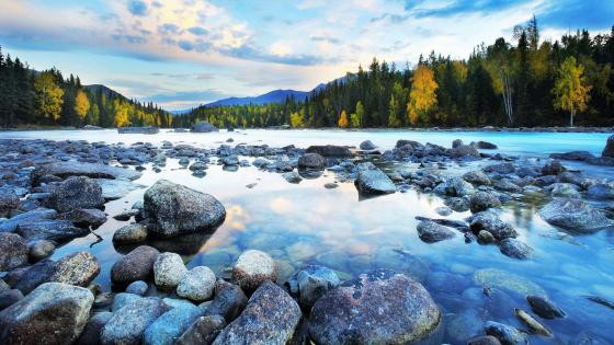 River boulder wallpaper