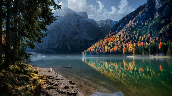 Pragser Wildsee (Lake Braies) and Prags valley wallpaper