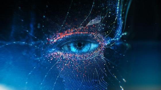Blue eye - Digital art wallpaper