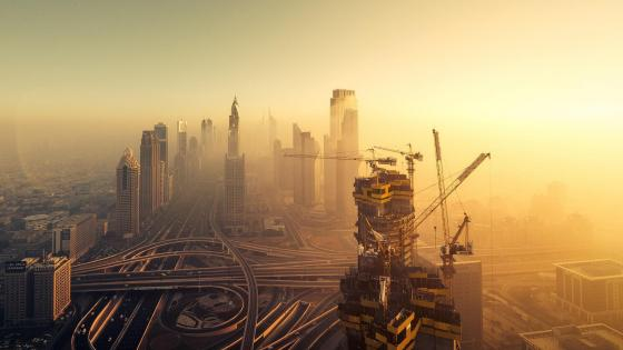 Construction in Dubai wallpaper