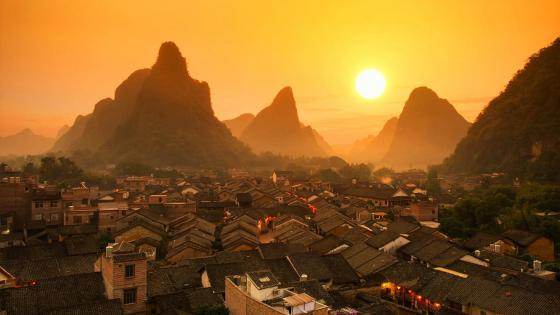 Huangyao Ancient Town wallpaper