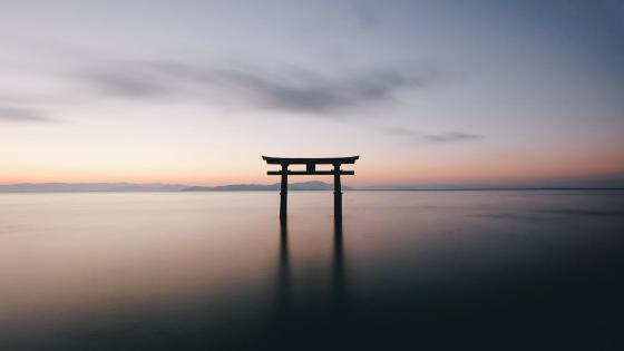 Japan Torii gate reflection wallpaper