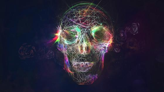 Skull digital art wallpaper