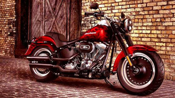 Harley-Davidson FLSTF Softail Fat Boy wallpaper
