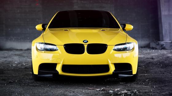 Yellow BMW M3 wallpaper