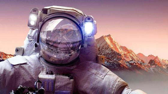 Astronaut on Earth wallpaper