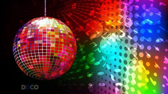 Colorful disco ball wallpaper