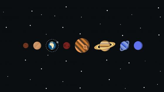 Planetary system wallpaper