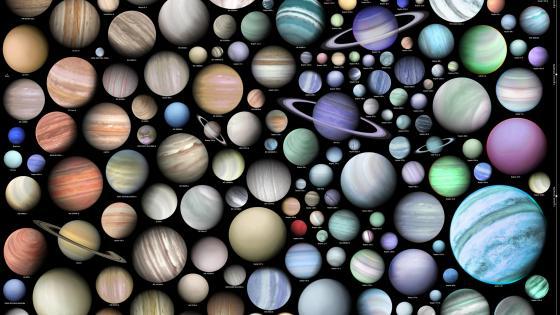 行星图 (Planet map) wallpaper