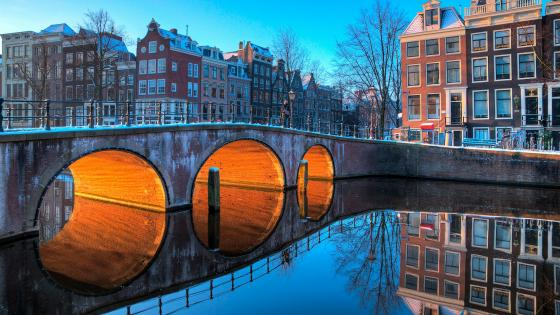 Amsterdam Bridge wallpaper