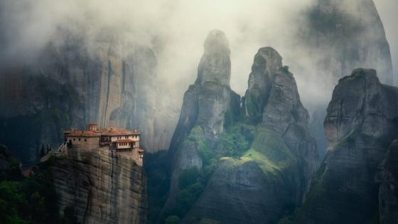 Roussanou Monastery (Meteora, Greece) wallpaper