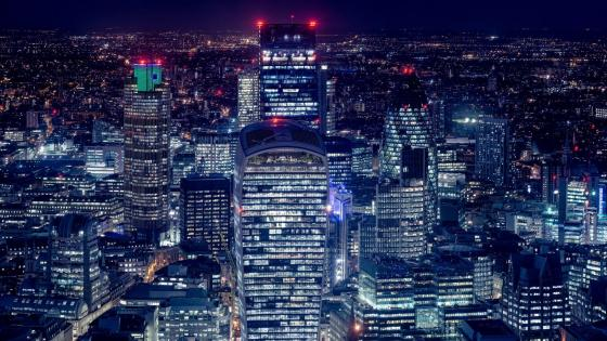 London Skycrapers at night wallpaper