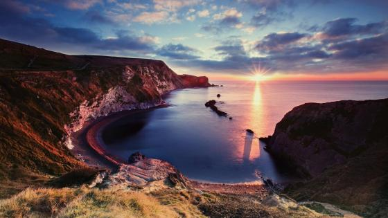Lulworth Cove (Jurassic Coast, England) wallpaper