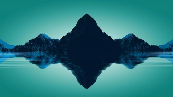 Mountain reflection - Low Poly Art wallpaper