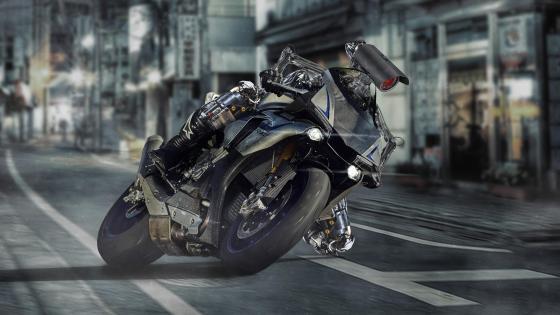 Yamaha YZF-R1 Robot rider wallpaper