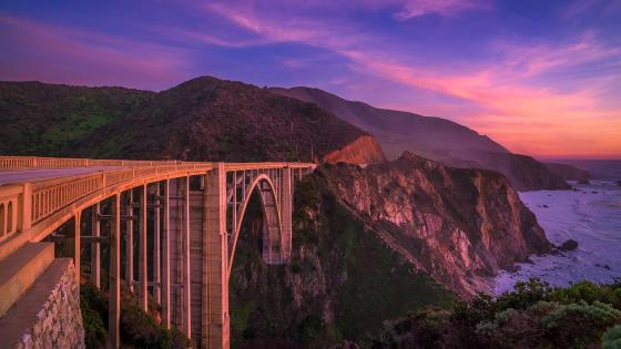 Bixby Bridge (Big Sur, California) wallpaper