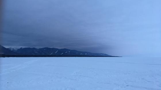 Frozen Lake Baikal wallpaper
