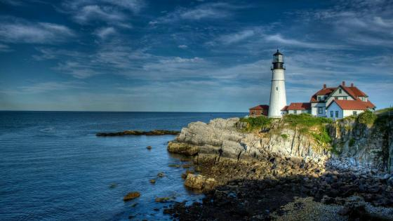 Portland Head Light in Cape Elizabeth wallpaper