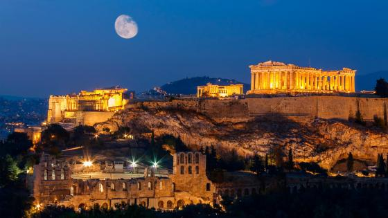 Acropolis Hill, Athens wallpaper