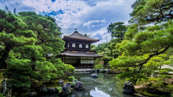 Ginkaku-ji Zen temple, Japan wallpaper