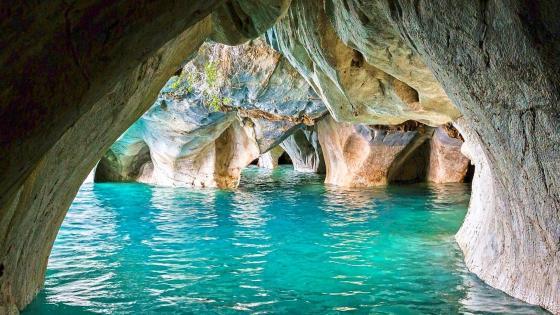 Marble caves (General Carrera Lake, Chile) wallpaper