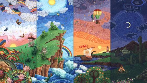 Dreamland fairytale art wallpaper