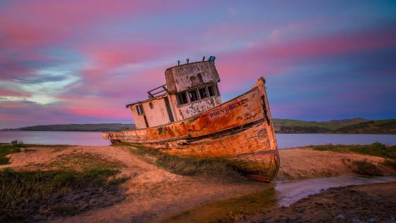 Point Reyes shipwreck on Tomales Bay wallpaper