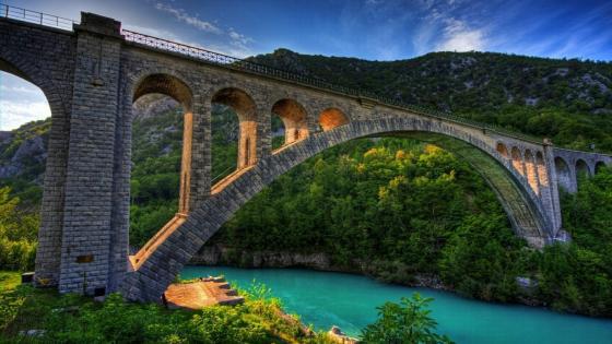 Solkan Bridge (Slovenia) wallpaper