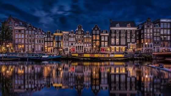 Singel Canal (Amsterdam) wallpaper
