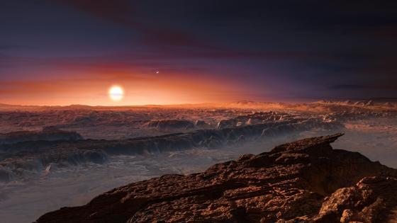 Alien planet landscape wallpaper