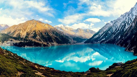 Big Almaty Lake (Trans-Ili Alatau mountains,  Alatau – Eliy National Park, Kazakhstan) wallpaper