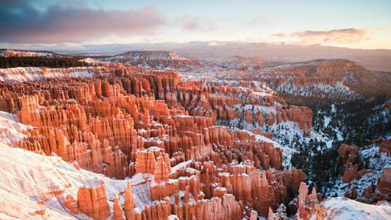 Winter time in Bryce Canyon National Park wallpaper
