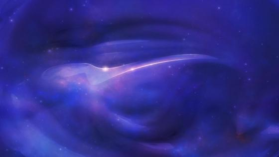 Blue space abstraction wallpaper