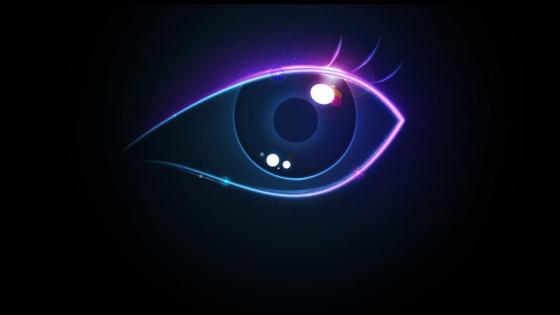 Neon eye wallpaper
