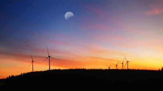 Wind turbine farm wallpaper