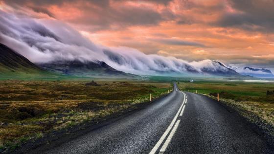Heavenly road in Snaefellsnes, Iceland wallpaper