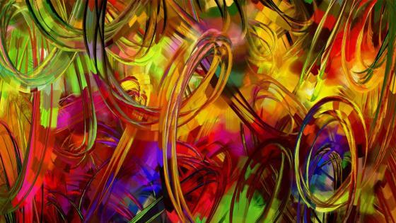 Colorful digital painting art wallpaper