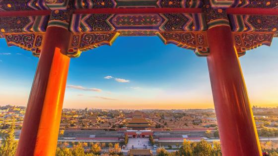 Forbidden City from Jingshan Park wallpaper