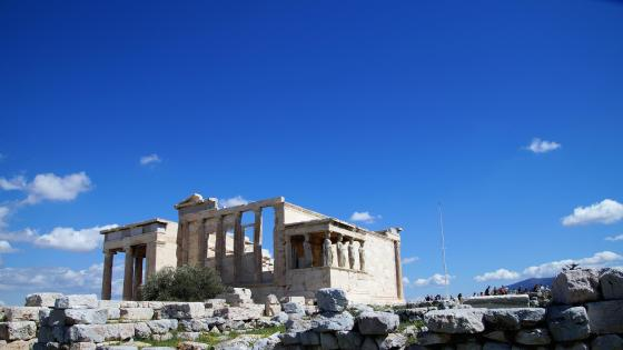 Erechtheum on Acropolis wallpaper