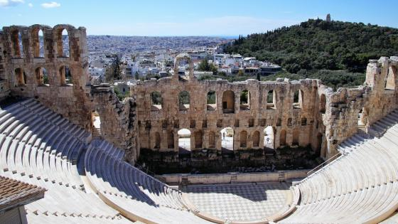 Odeon of Herodes Atticus (Acropolis, Athen) wallpaper