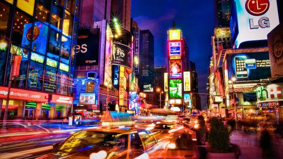 Times Square at night (Midtown Manhattan, New York) wallpaper